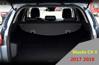 Auto Rear Trunk Security Shield Cargo Cover For Mazda CX 5 2017 2018 High Qualit Car Accessories Black / Beige