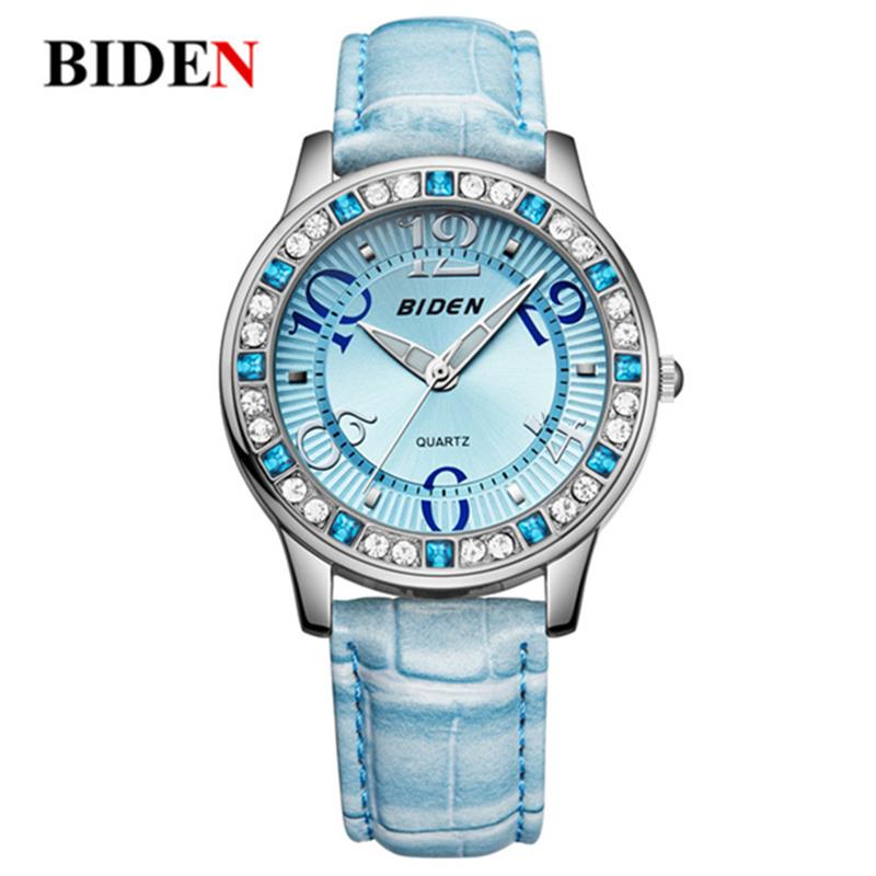 Prix pour Montre Femmes BIDEN marque de luxe Mode Casual montres à quartz en cuir sport Dame relojes mujer femmes montres Fille Robe