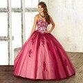 Charme Quinceanera Dresses Querida Lace Apliques Lace Up Voltar Debutante Doce 16 Vestido Vestidos De 15 Años