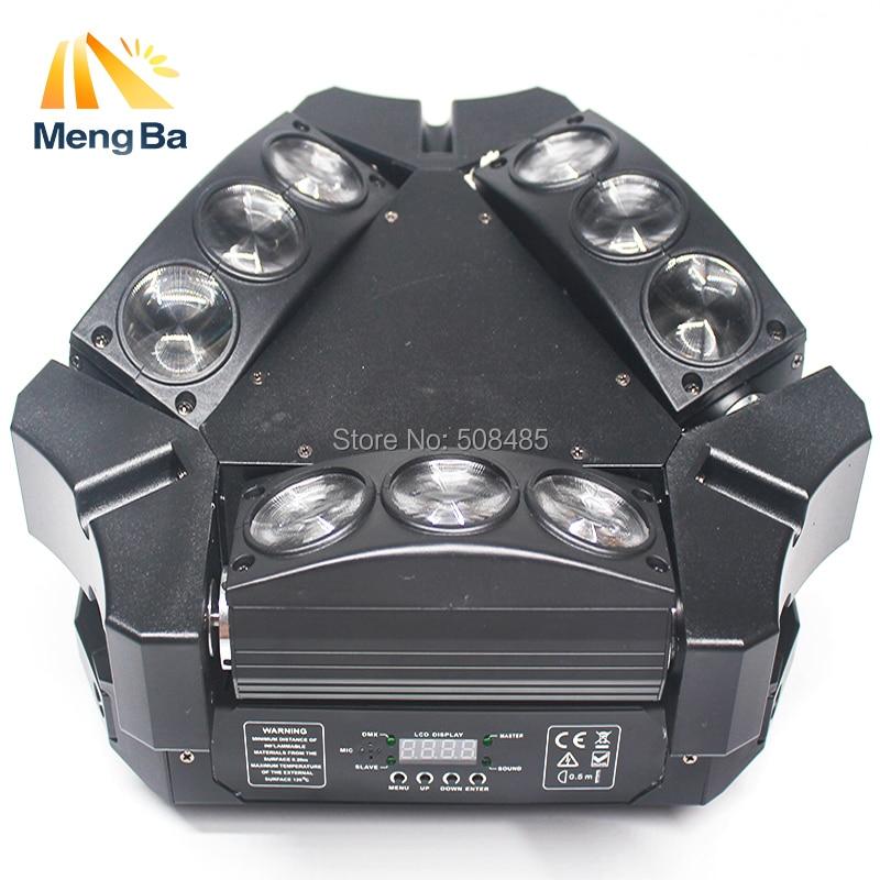 NYHET 9x12w RGBW 4in1 Spindel LED-stråle rörlig huvudljus Färgglad - Kommersiell belysning - Foto 2