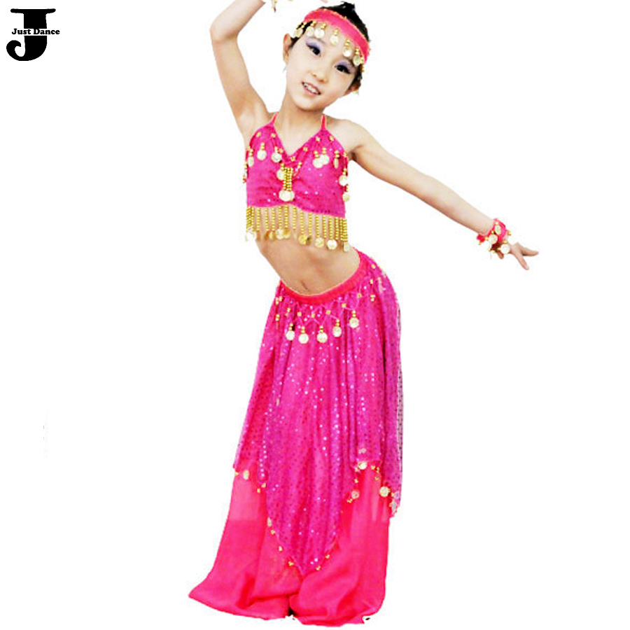 aee65314513a Online Shop 2016 New Girls Belly Dance Costume Set Red Rose Blue ...