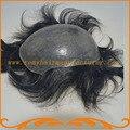Бесплатная доставка 100% хорошие волосы супер тонкой кожи узел или V цикл небольшое волна фондовые мужчины парик волос замены системы