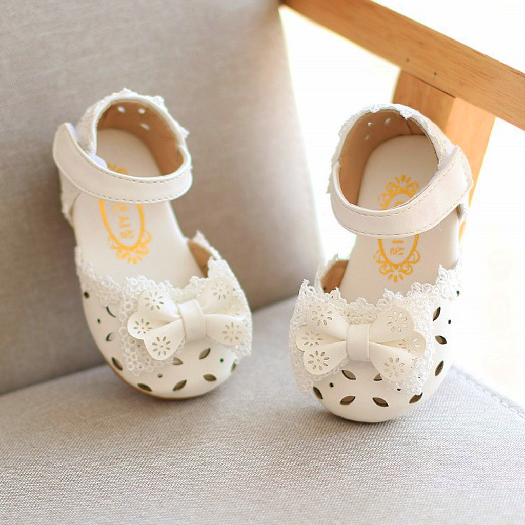 Toddler Infant Kids Baby Girls Elegant Bowknot Single Princess Casual Shoes NEW