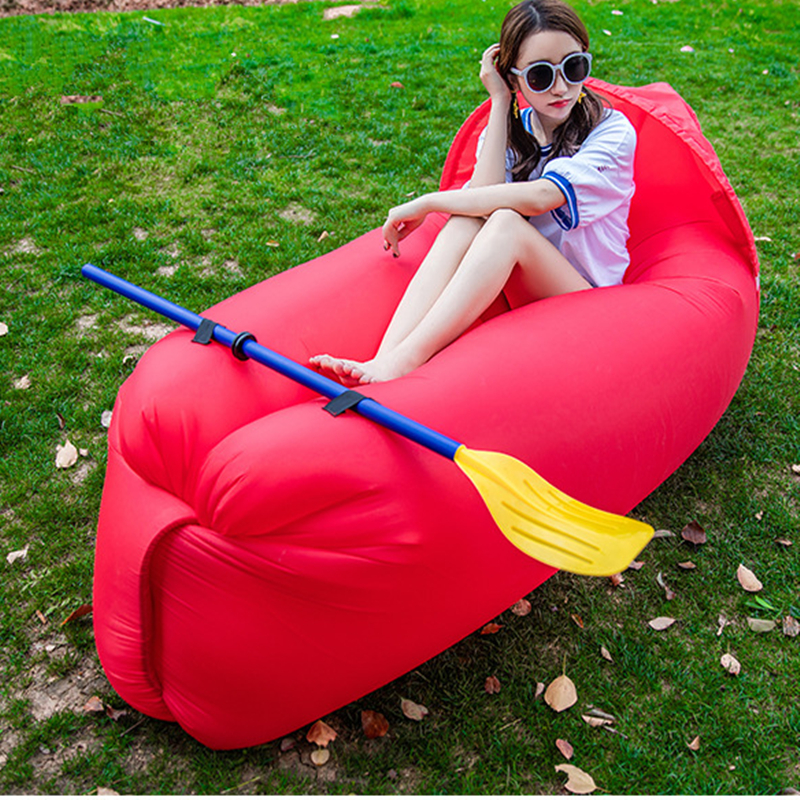 Inflatable Beach Lounger Outdoor Portable Single Inflatable Air Sofa inflatable Air Sofa Bed Lazy Sleeping Camping Bag 16pcs 14 25mm carbide milling cutter router bit buddha ball woodworking tools wooden beads ball blade drills bit molding tool