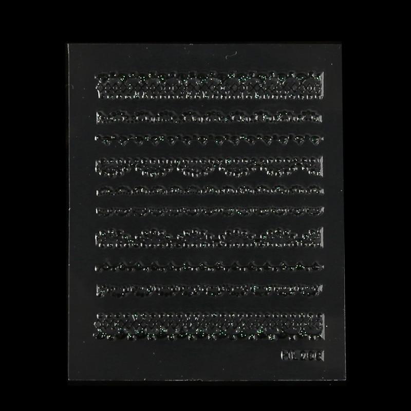 1500 шт(30 шт./упак.) Белая/Черная кружевная наклейка для ногтей Дизайн ногтей Красота обертывание Декоративные наклейки для ногтей патч