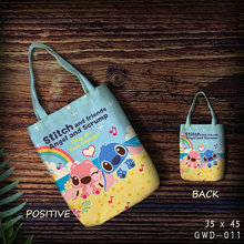 2018 Sale Boodschappentas Lilo & Stitch Shopping Bag Foldable Anime Customized With Own Logo Cartoon Cute Wholesale Canvas Eco