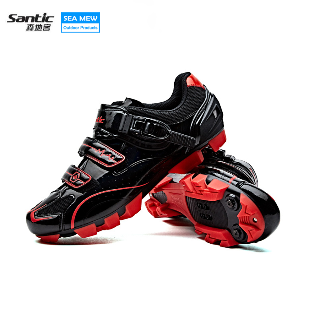 Santic Breathable Auto-lock Bike Shoes Ride MTB Bicycle Shoes Light weight Highway Lock cycling shoes Ciclismo Zapatos 3 Colors антиугон auto lock