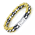 10mm Top Quality Link Chian Bracelet Silver Yellow Cycling Bangle Biker Motorcycle chain Bracelets 316L Stainless Steel Jewelry