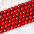 "Charming imitation red coral 6mm 8mm 10mm 12mm 14mm round loose beads fashion women diy fine jewelry making 15""B610"