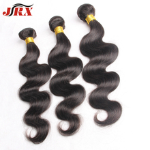 Great Promotion 6A JRX Unprocessed Brazilian Virgin Hair Body Wave 100% Human Hair Extensions Brazilian 3pcs Lot Natural Black