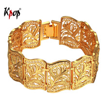 Kpop Vintage Bangle For Women Jewelry Gold Color Trendy Charm Bracelets&Bangles Gift For Women H1001