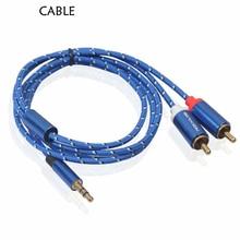 Для аудио 3,5 мм стерео штекер 2 RCA Y кабель для iPOD MP3 мобильного телефона 0,5 m-3 m