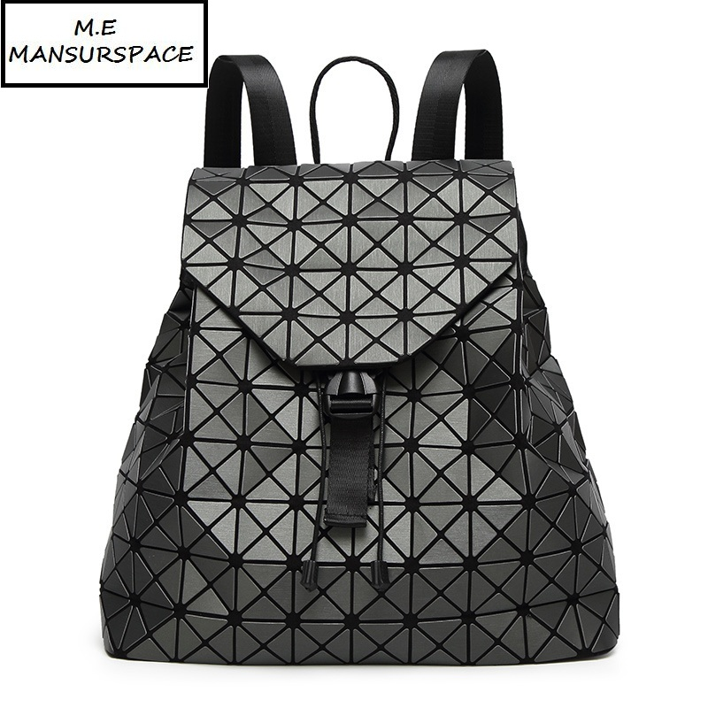Women Backpack Feminine Geometric Plaid Sequin Backpacks For Teenage Girls Bag pack Drawstring Bag Holographic bao Backpack makorster fashion letter pattern women backpack bag drawstring bagpacks canvas backpacks cheap printing feminine backpack mk232
