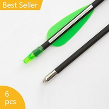 6 Pcs Imitation Carbon Fiberglass Arrow Nock Proof Spine 500 For Hunting Compound Bow / Long Bow Arrow Best Price