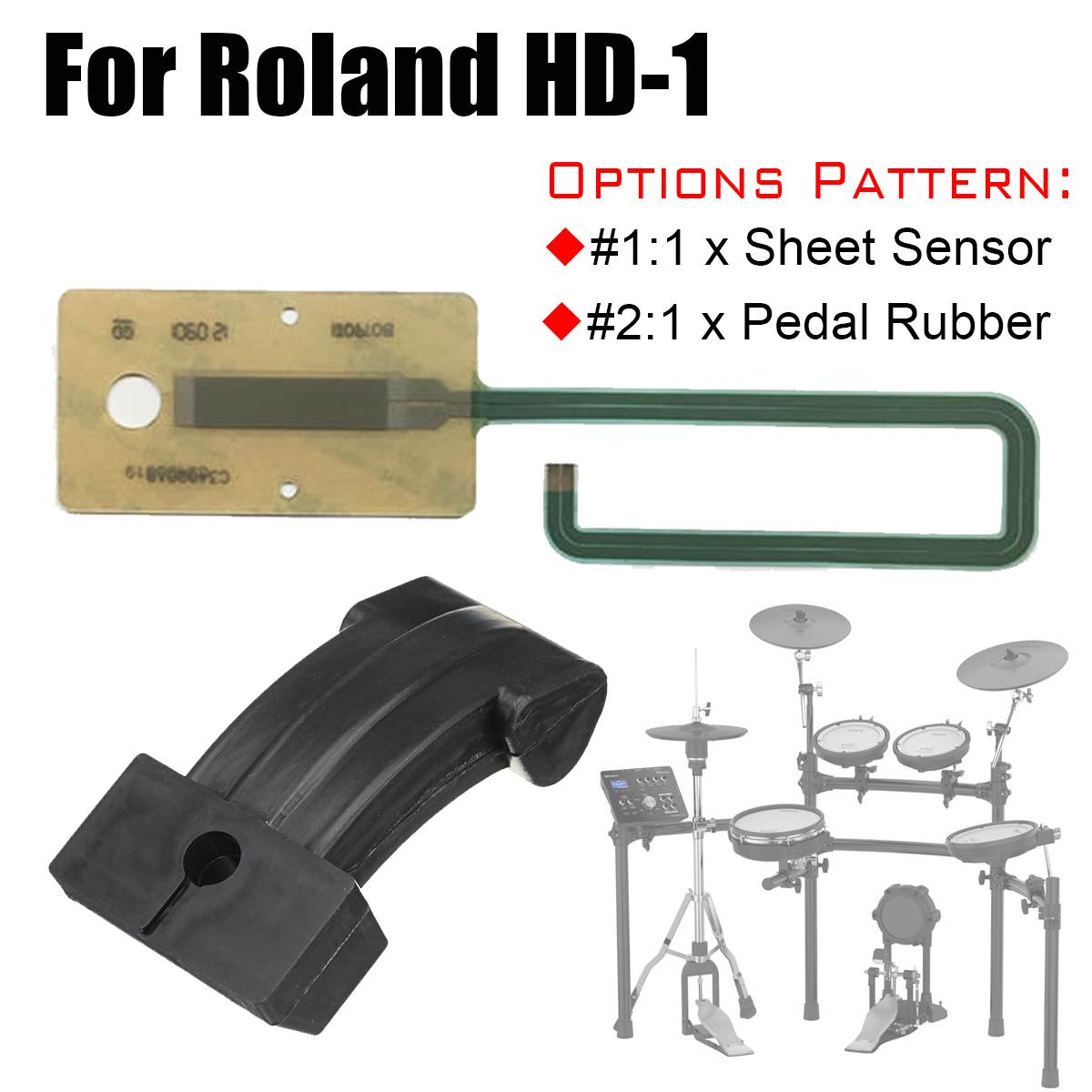 Drum Accessories Sheet Sensor Actuator Circuit Membrane Pedal Replacement Part For Roland HD-1