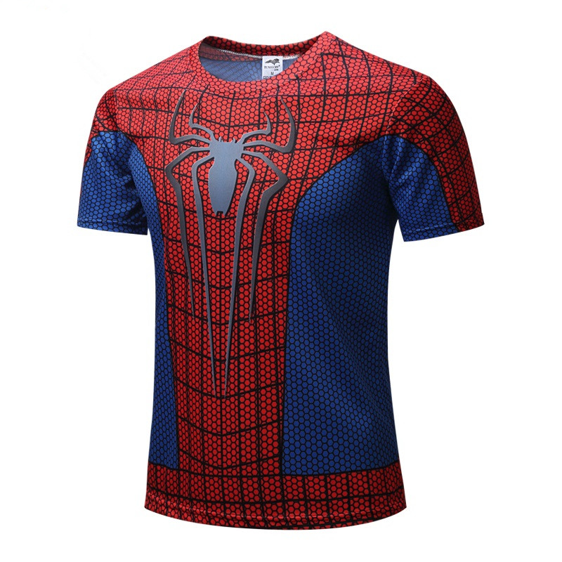 Father & Son Matching 3d Spiderman T-shirt Superhero Tops Tees Dad Kids Gym Fitness Activity Sportswear Family Matching Clothing