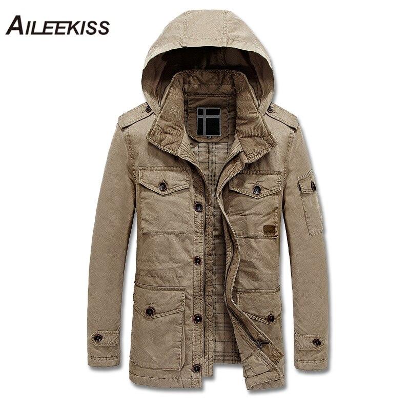2018 Men New Fashion Outwear Hooded Jacket Man Brand Clothing Autumn Winter Men Windbreaker Zipper Coats Solid Men Jackets XT472