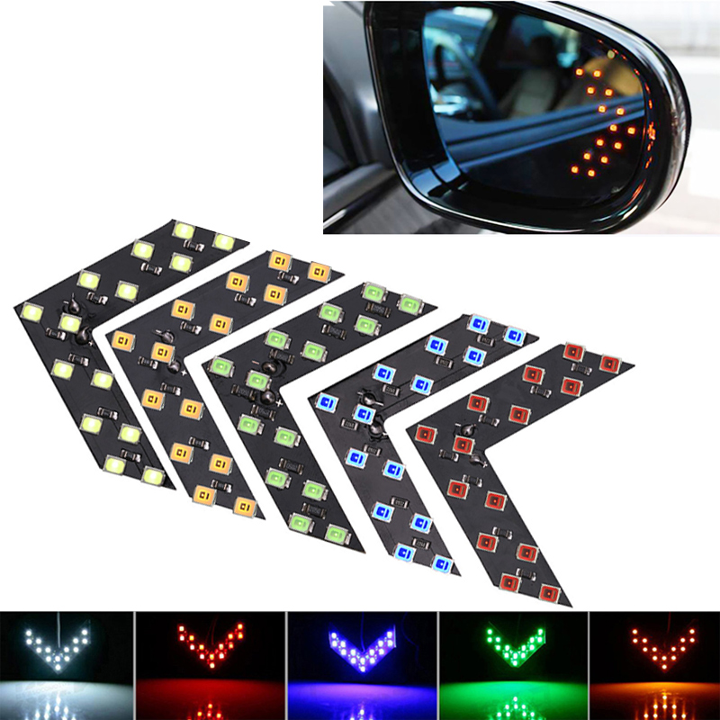 1x Car Led Decoration Light Arrow Panel Light For Car Rear View Mirror Indicator Turn Signal Light Car LED Rearview Mirror Light