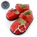 TipsieToes Marca Floral de Cuero de piel de Oveja Niños Niños Zapatillas Para Niñas Zapatos Sapato infantil Nueva 2016 Otoño Primavera 22215