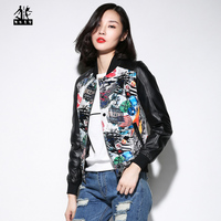 2017 New Women Leather Jacket Black Stamp High Quality Genuine Sheepskin Short Slim Fit Lady Winter