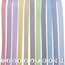 """Полиэфирная 3/""""(20 мм) Двойная серебристая металлическая лента для проверки косой вязки для пошив одежды «сделай сам» и обрезки 25 ярдов/рулон"""