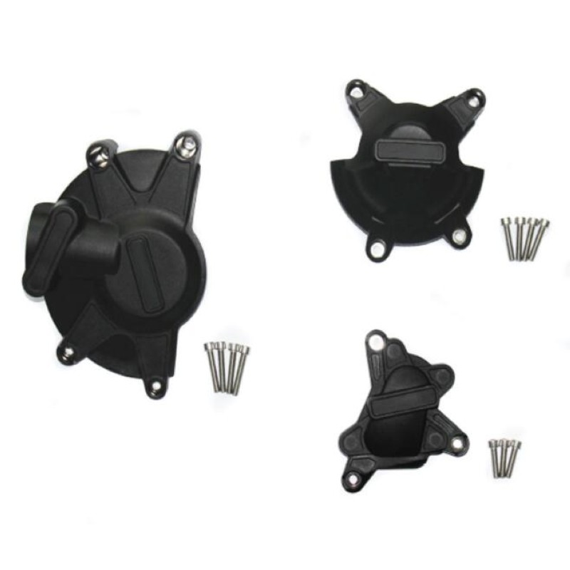 Motorcycle Black Engine Stator Case Cover Guard Protection Kits For GB Racing case For  Yamaha YZF R1 2009-14 freeshipping motorcycle left engine stator cover for yamaha yzf r6 2006 2007 2008 2009 2010 2011 black