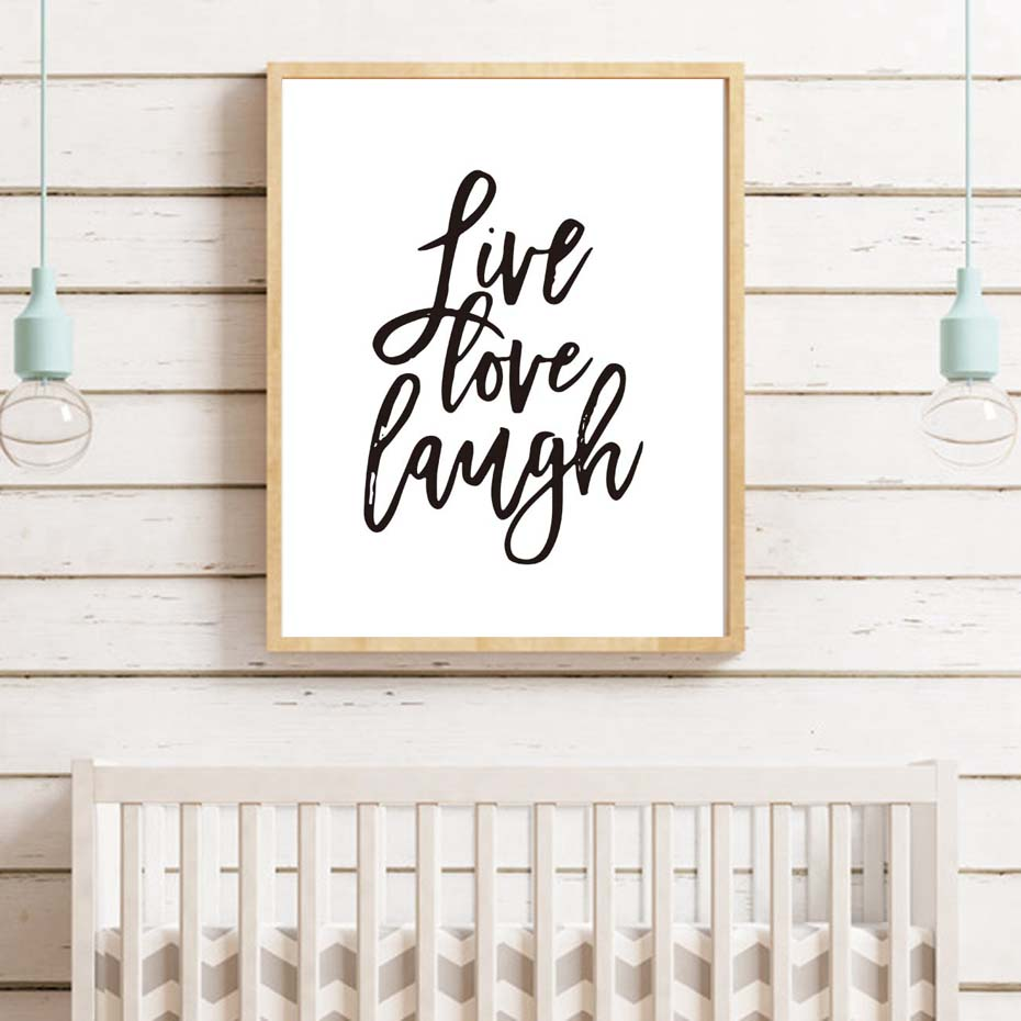 Modern Motivational Live Love Laugh Quotes Canvas Painting Kids Room Home Decor Wall Art Print Pictures Poster No Frame Buy At The Price Of 2 80 In Aliexpress Com Imall Com