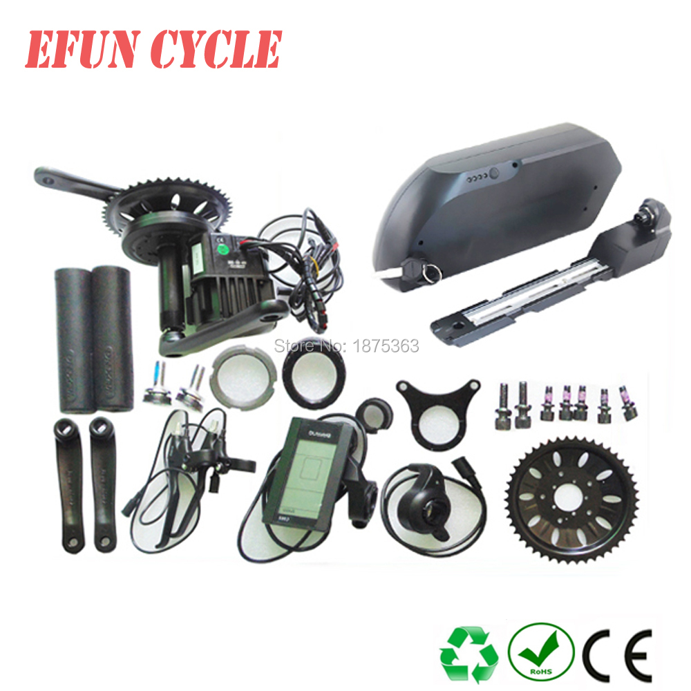 Free shipping bafang mid motor kits 48V 1000W electric bike motor kit with tiger shark 48V 17.5Ah Li-ion down tube ebike battery