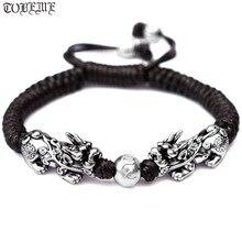 Fait à la main bonne chance homme Bracelet Fengshui Pixiu Bracelet 3D 999 argent richesse Pixiu perlé Bracelet homme cadeau