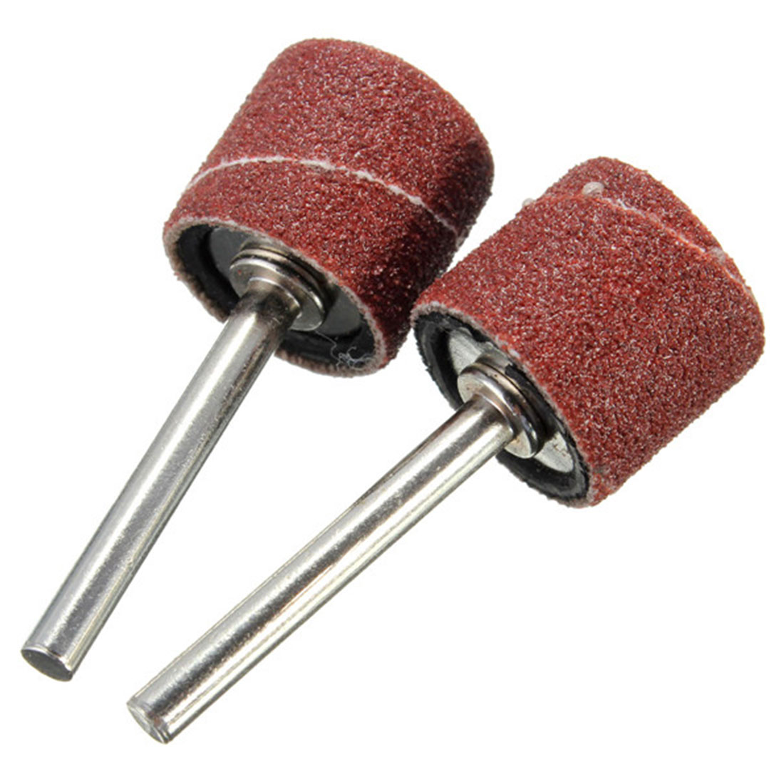 Hot 100pcs/set 80Grit  Sandpaper Grinding Wheel Drum Sanding Kit 1/8 Inch Sand Mandrels Fit For Dremel Nail Drill Rotary Tools