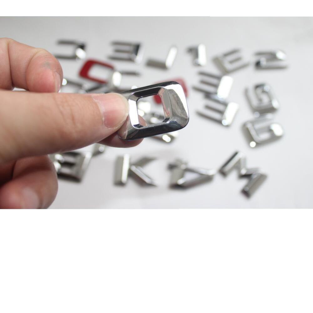 хром 3D АБС пластик багажник автомобиля сзади букв слова эмблемы этикета стикеры для Мерседес Бенц гле класса gle400