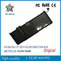 "10.95 v 95wh original nuevo a1383 batería genuina del ordenador portátil para apple macbook pro 17 ""2011 a1297 020-7149-a10 mc725ll/a"