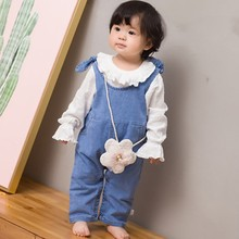 Denim Sleeveless Pants Overalls Trousers 4M-2Yrs Outfit