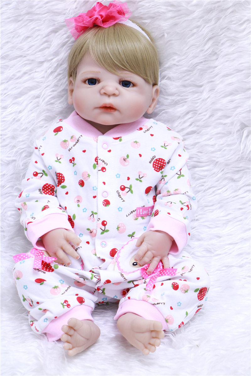 girl bebe reborn doll full menina de silicone menina 55 cm reborn babies dolls baby born Handmade lifelik for Babies Girl Toys new style girl dolls full silicone reborn dolls with beautiful dress adora dolls bebe reborn de silicone menica