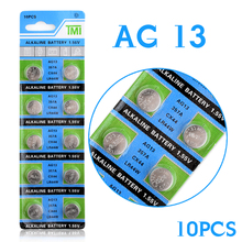 цена на +Lowest Price++Free Shipping+ +Hot Selling+ 10 Pcs AG13 LR44 357A S76E G13 Button Coin Cell Battery Batteries 1.55V Alkaline 22