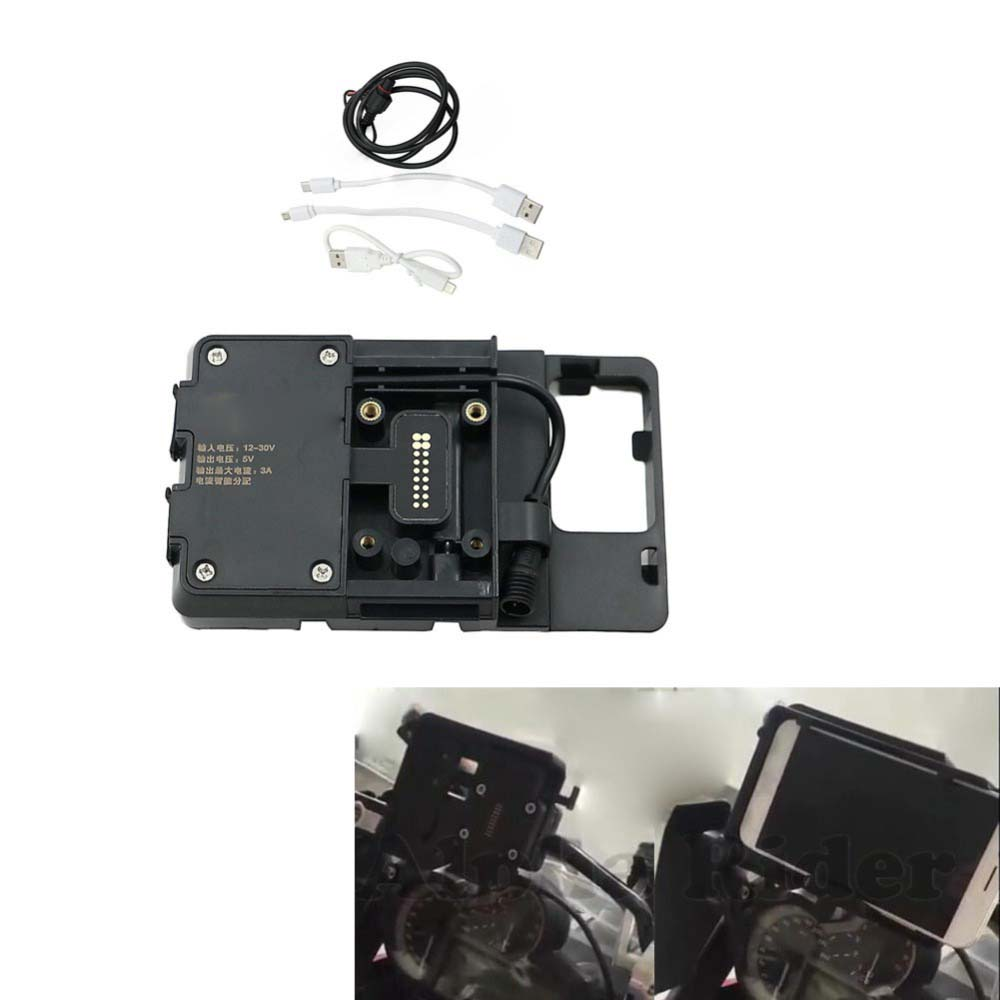 for BMW R1200GS LC Adventure 13 17 Double USB Port Mobile Phone Navigation bracket USB Iphone