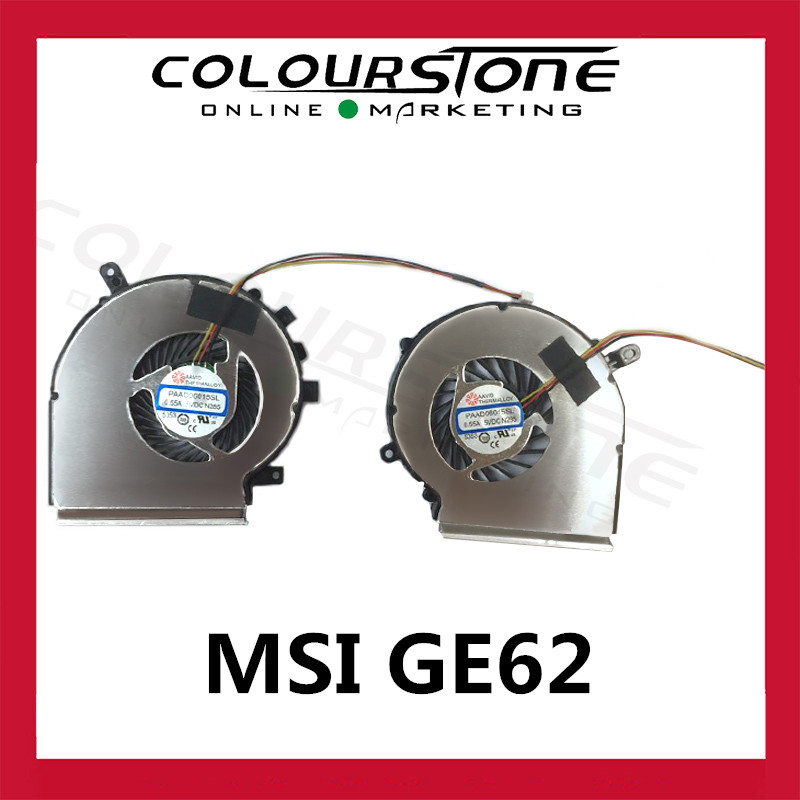 CPU Cooling Fan A Pair   For MSI GE62 GE72 PE60 PE70 GL62 PAAD06015SL N302 N303 Laptop Cooler Radiators Original Cooling Fan computador cooling fan replacement for msi twin frozr ii r7770 hd 7770 n460 n560 gtx graphics video card fans pld08010s12hh