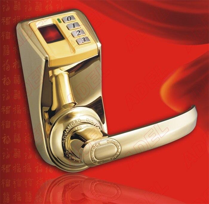 PVD couleur or Adel LS9 trinité biométrique d'empreintes digitales biométrique mot de passe serrure de porte sans clé