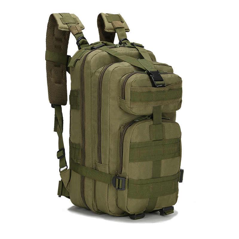2019 BARU Outdoor Taktis Ransel 3P Militer 30L Molle Tas Tentara Olahraga Ransel Perjalanan Berkemah Hiking Trekking Kamuflase Tas