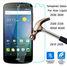 2.5D Tempered Glass 9H Guard Film Screen Protector For Acer Liquid Z530 Z630 Z320 Z410 Z525 X2 Zest plus