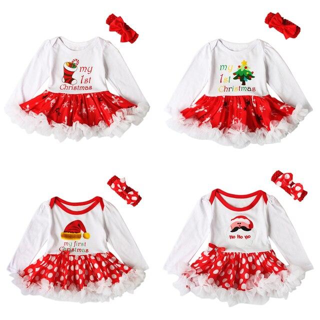 Babykleding Eerste Kerst.Us 7 59 17 Off 2017 Kerst Baby Kids Meisje Bloem Tule Jurk Romper Baby S Eerste Kerst Kostuums Verjaardagsfeestje Tutu Jurk In 2017 Kerst Baby Kids