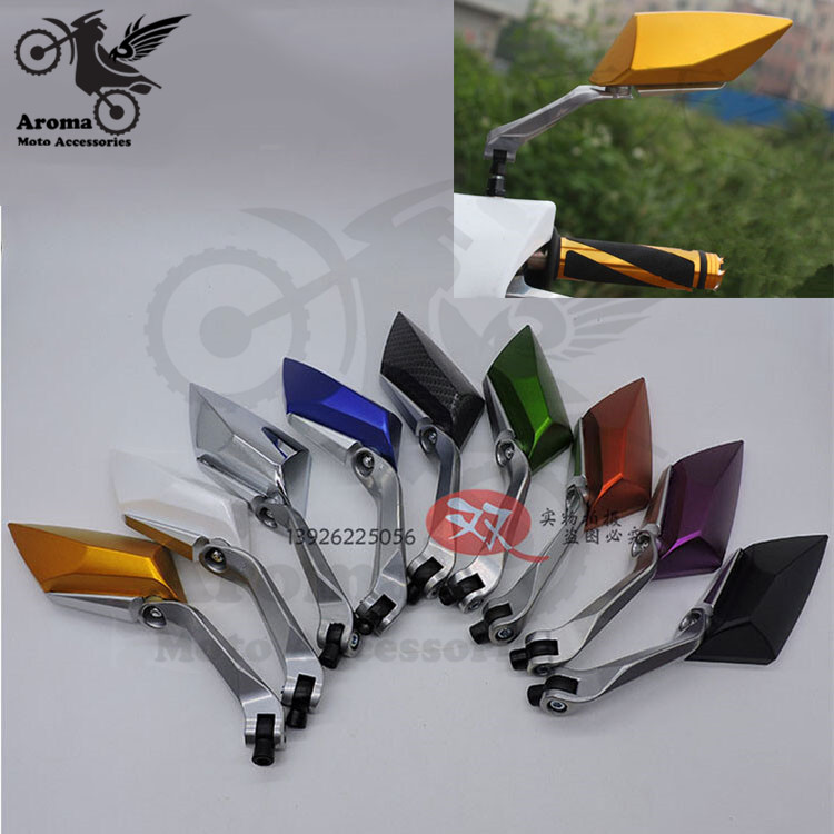 lizoai 8 colors available 10mm 8mm unviersal parts motorbike rear view mirror