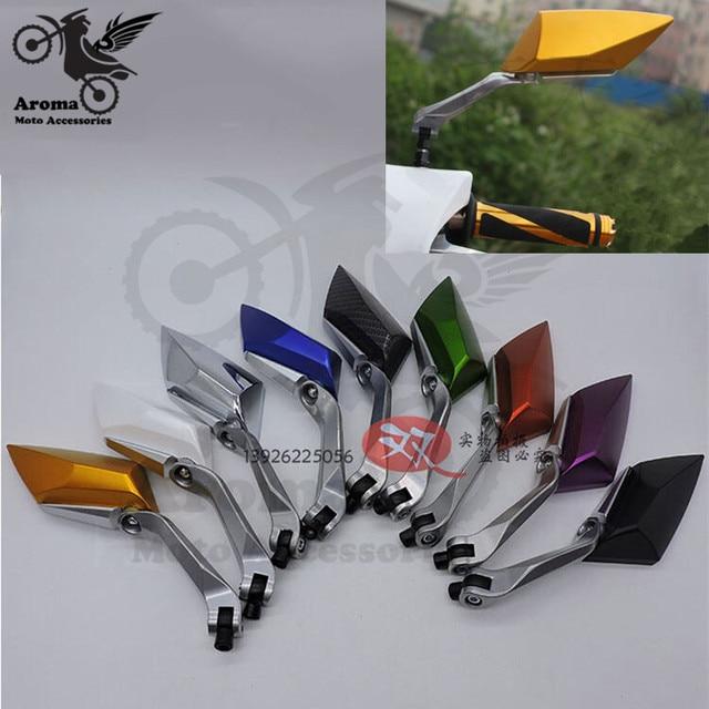 Cores disponíveis 10 8mm 8mm unviersal peças moto rbike espelho lateral espelho retrovisor moto cross moto rcycle espelho retrovisor de moto