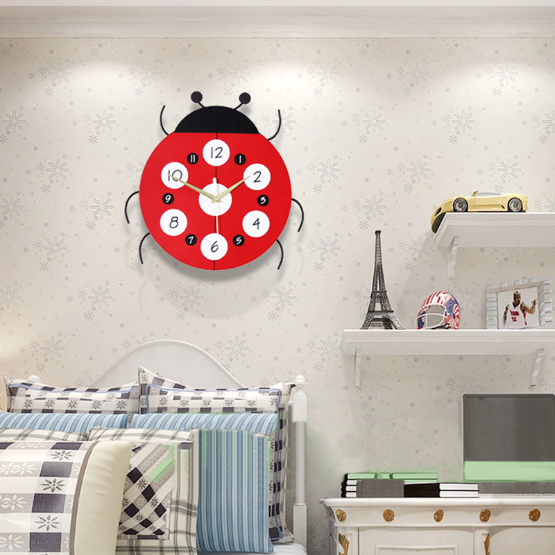 US $40.9 |Cartoon Wall Clock Creative Children\'s Room Animal Cute Simple  Mute Clock Baby Bedroom Personality Fashion Art Wall Clocks-in Wall Clocks  ...
