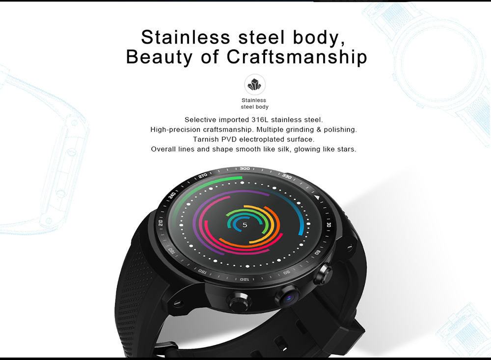 PlusPro Android Smartwatch With GPS 1.53inch