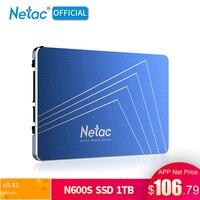 Оригинальный Netac 1 ТБ SSD жесткий диск 2,5 дюйма SATA III Internal Solid State Drive N600S 1 ТБ SSD жесткий диск для ноутбука Desktop PS4
