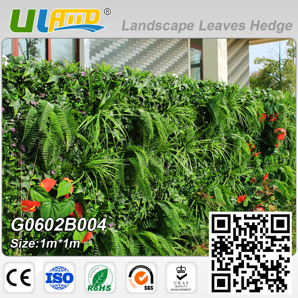 1m*1m artificial plants fence outdoor artificial foliage hedge