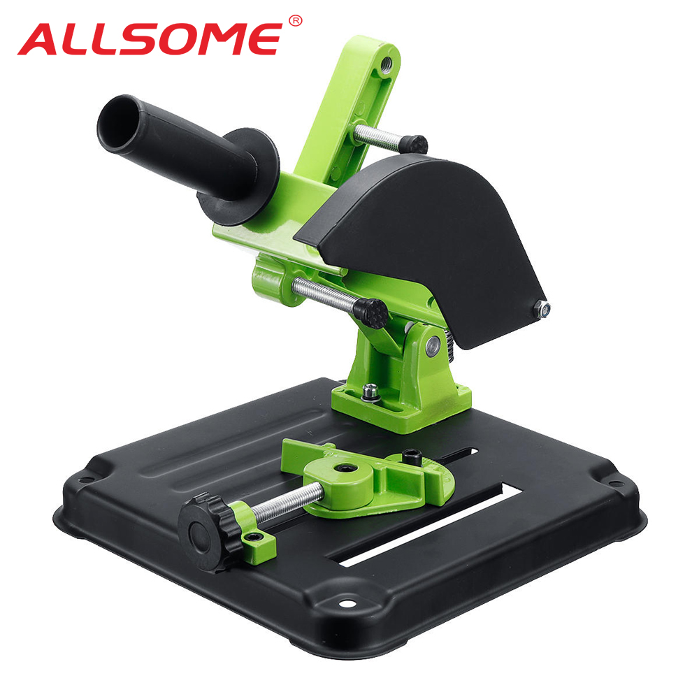 ALLSOME Fixed Angle Grinder Stand Cutting Machine Frame Hand Tool Power Tools Accessories Blade Angle Grinder Bracket