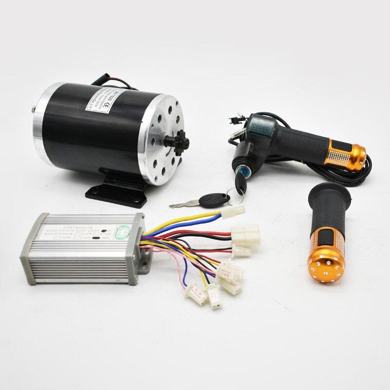 36V48V 1000 W UNITEMOTOR moteur brossé MY1020 avec contrôleur et LED papillon moto électrique MX500 Kit de moteur amélioré