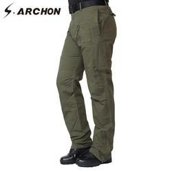 S. ARCHON США солдаты тактические штаны-карго мужские Мульти-карманные военные хлопковые брюки мужские армейские тактические боевые полевые